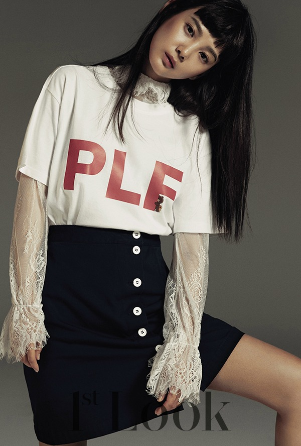 Yoon Sung-ah 윤승아 for fashion brand PLF
