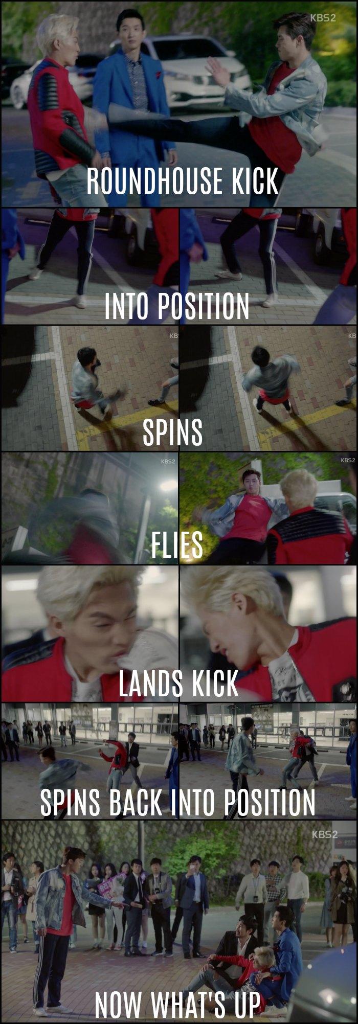 Ssam my way dong-man spinning kick