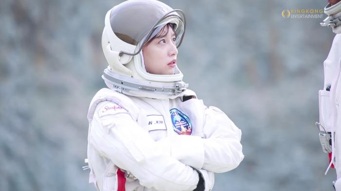 Kim Ji Won making film