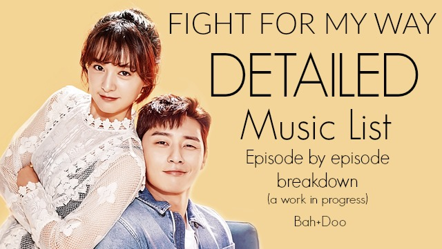 Fight for My Way Detailed Music List • Drama Milk