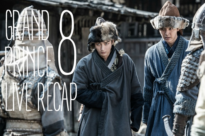 Live recap for episode 8 of the Korean drama Grand Prince starring Yoon Shi-yoon and Jin Se-yeon