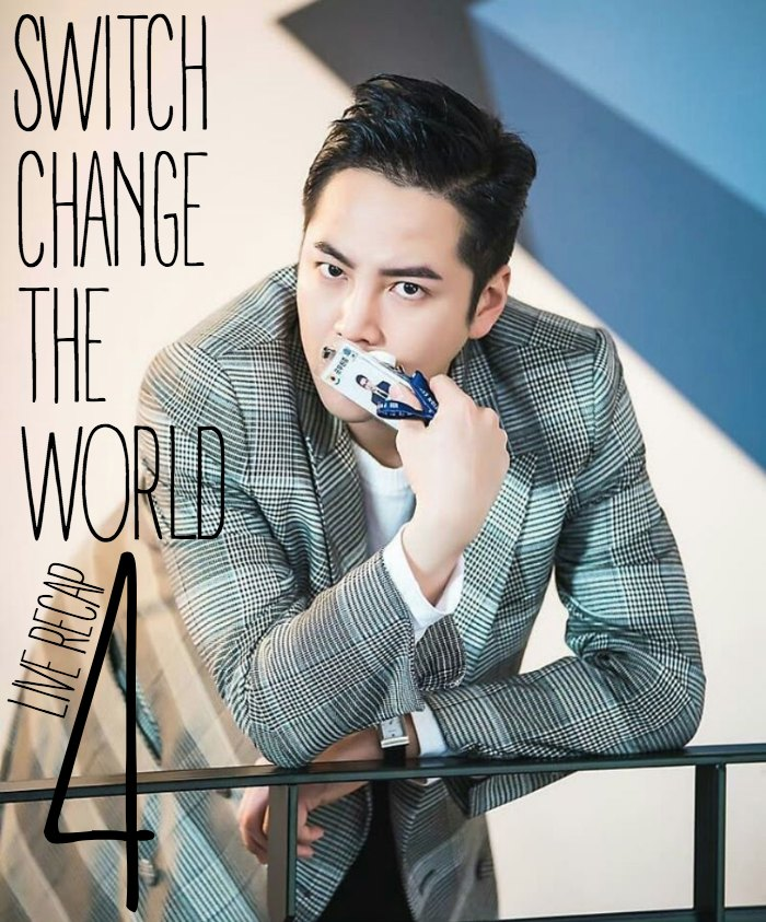 Live recap for episode 4 of the Korean Drama Switch: Change the World starring Jang Keun-suk and Han Ye-ri