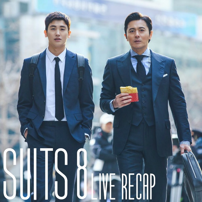 Live recap for episode 8 of the Korean Drama Suits starring Jang Dong-gun and Park Hyun-sik
