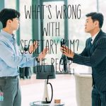 Park Seo Joon is trying hard not to get his tie put on in What's Wrong with Secretary Kim