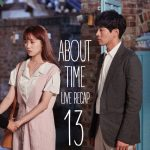 Lee Sung-kyung and Lee Sang-yoon talking outside at night in About Time