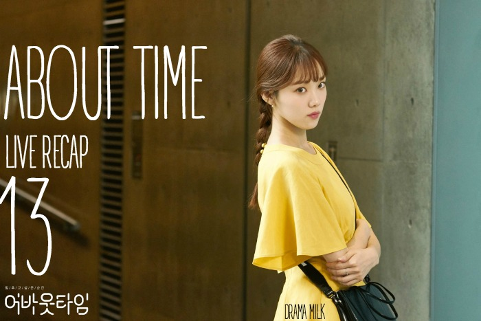 Lee Sung Kyung is breaking the 4th wall and wearing a yellow dress with a  black bag