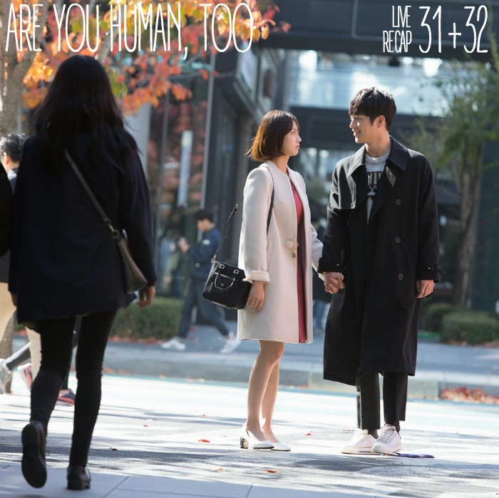 Seo Kang-joon and Kong Seung-yeon walking hand in hand in Korean drama Are You Human Too