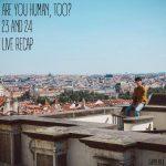 Seo Kang Joon sitting on a rooftop in Czech Republic