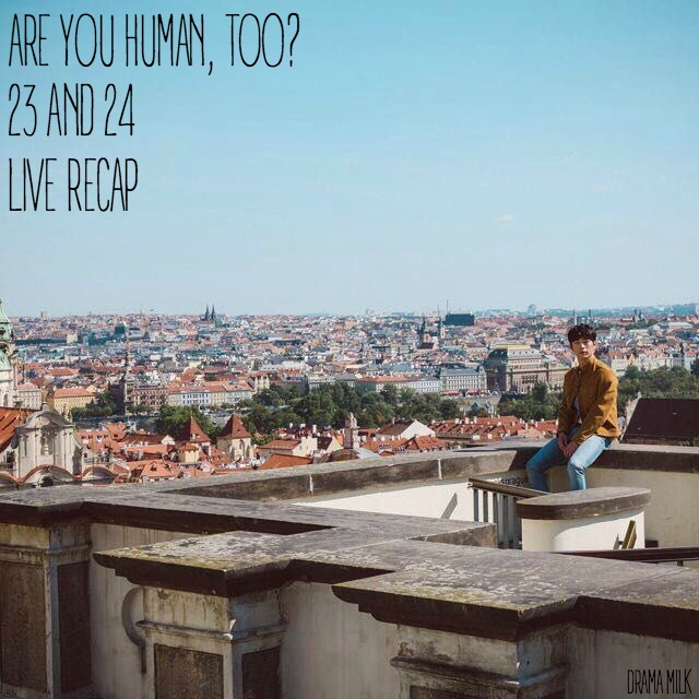 Seo Kang Joon sitting on a rooftop in Czech Republic