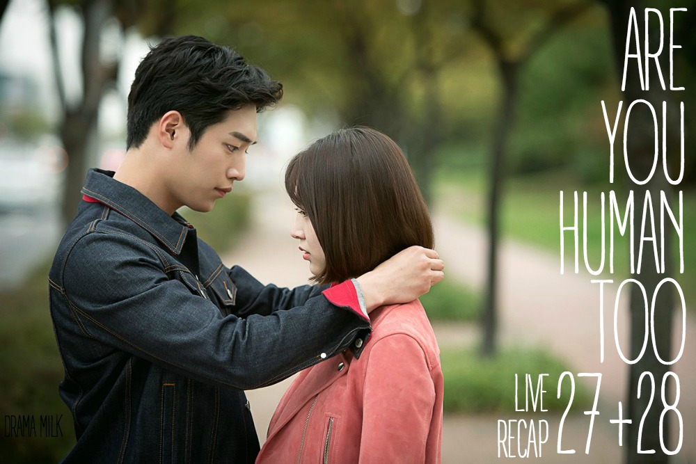 Seo Kang-joon puts a necklace on Kong Seung-yeon in Are You Human too