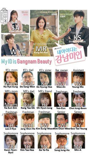 My ID is Kangnam Beauty chart • Drama Milk