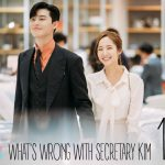 Park Seo-joon and Park Min-young smiling and holding hands in a department store in What's Wrong With Secretary Kim