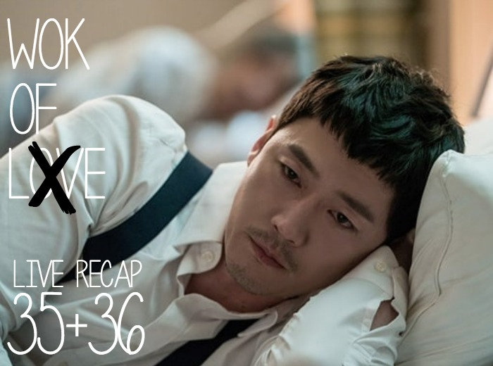 Jang Hyuk laying in a Hospital bed with suspenders on in Wok of Love