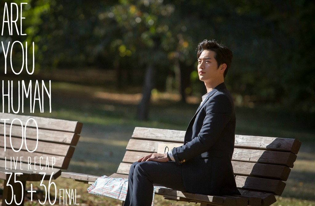 A man (Seo Kang Joon) sitting on a park bench in Kdrama Are You Human Too