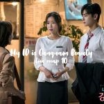 Two Department store employees talk to a woman in My ID is Gangnam Beauty