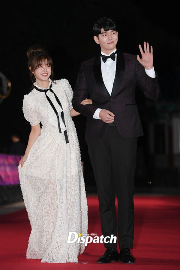 Clean With Passion For Now Kim You-Jung and Yoon Gyun-Sang in a white dress and a black suit