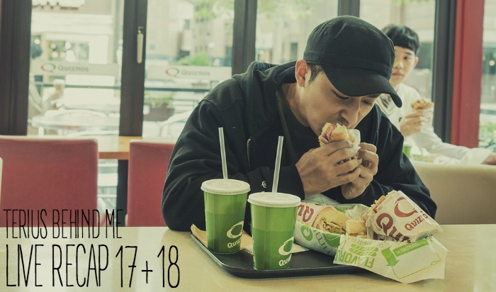 Digging into some Quiznos in a Kdrama