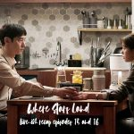 Lee Je-Hoon and Chae Soo-Bin touching hands at the dinner table awkwardly in Where Stars Land Korean Drama
