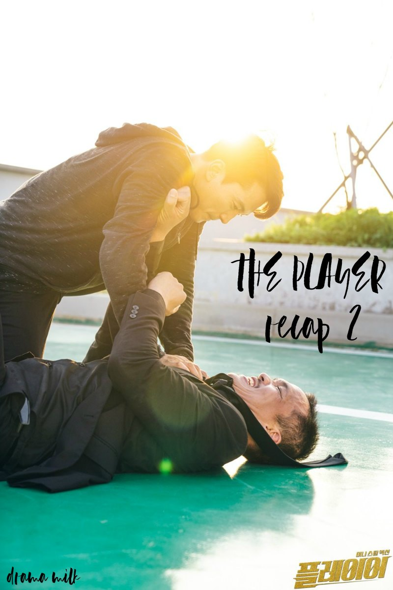 Song Seung-hyun fighting on a rooftop in Kdrama The Player