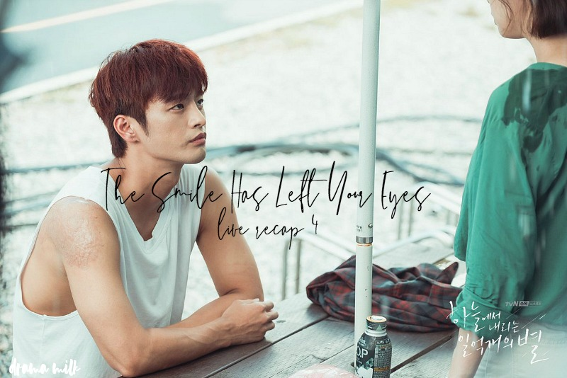 Seo In-Guk sitting at an outdoor table in Kdrama The Smile Has Left Your Eyes