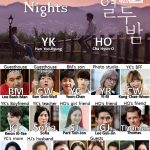 Character Chart for the Kdrama 12 nights
