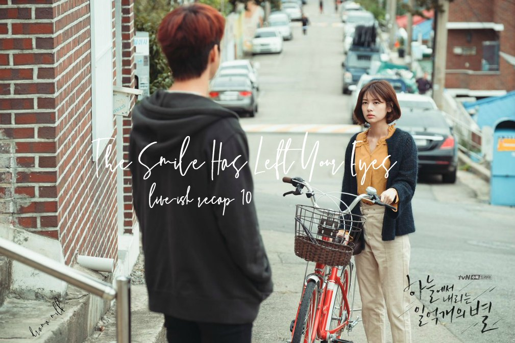 Jung So-Min holds a bicycle and looks trepidatiously at Seo In-Guk in Korean Drama TSHLYE