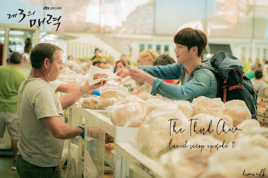 Seo Kang Joon getting bread in a foreign market in The Third Charm