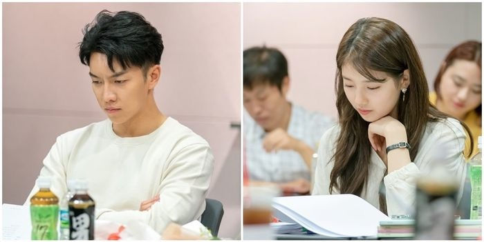 Lee Sung Gi and Suzy at Vagabond Script reading