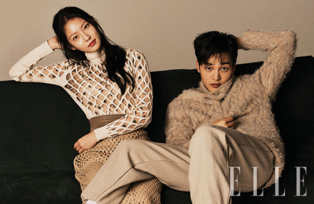 Gong Seung Young and Kim Min Jae for Elle Korea