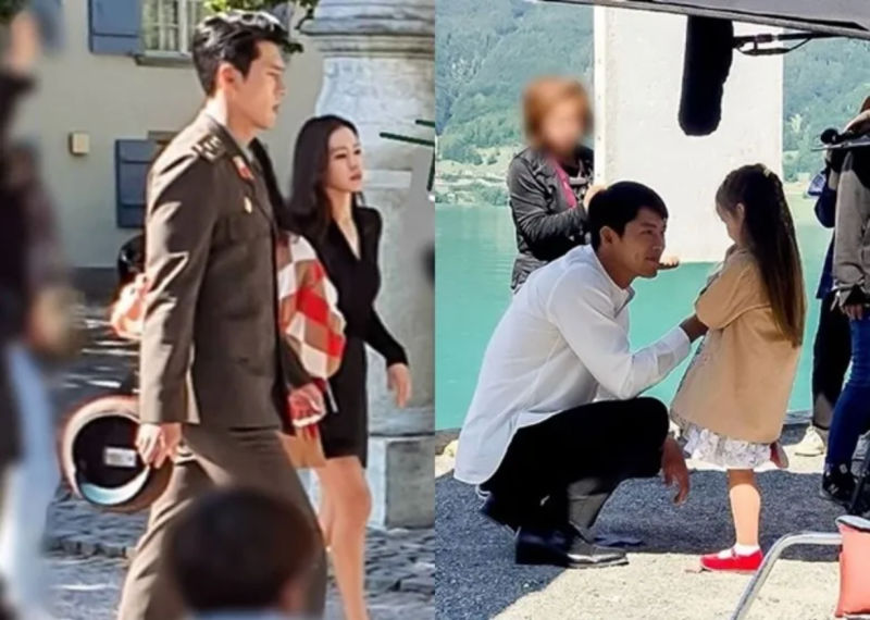 Hyun Bin and Son Yejin behind the scenes in Kdrama Love's Emergency Landing
