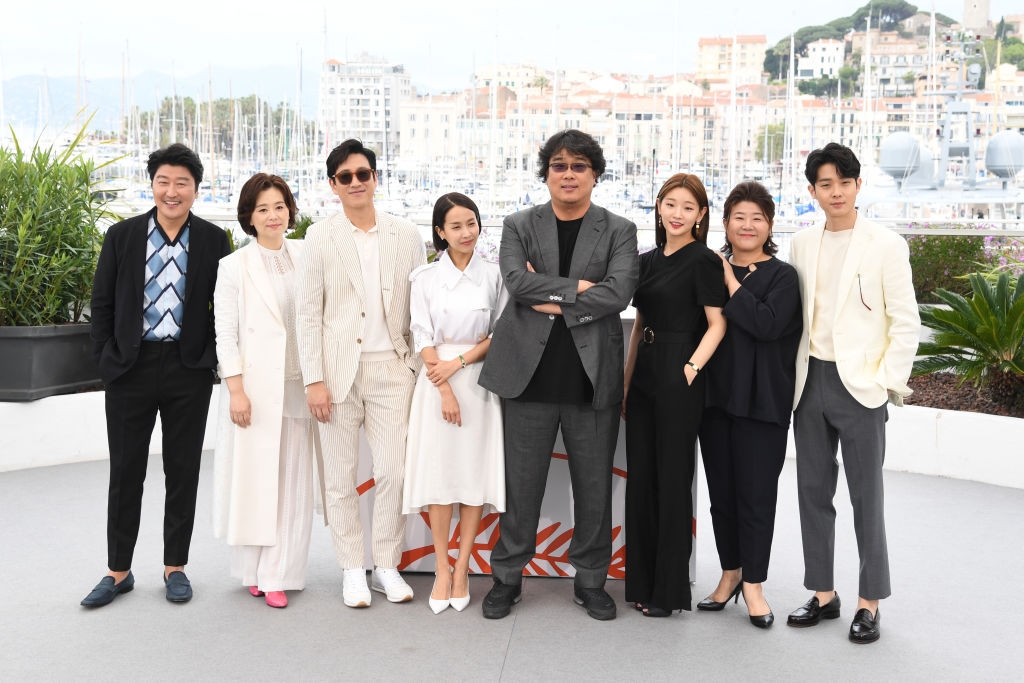 Parasite cast in Cannes