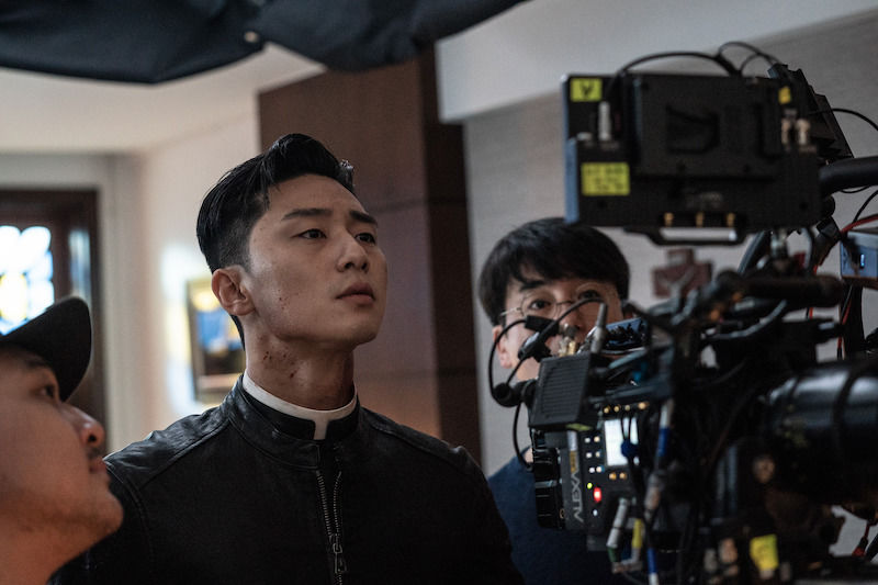 Behind the scenes of The Divine Fury with Park Seo Joon
