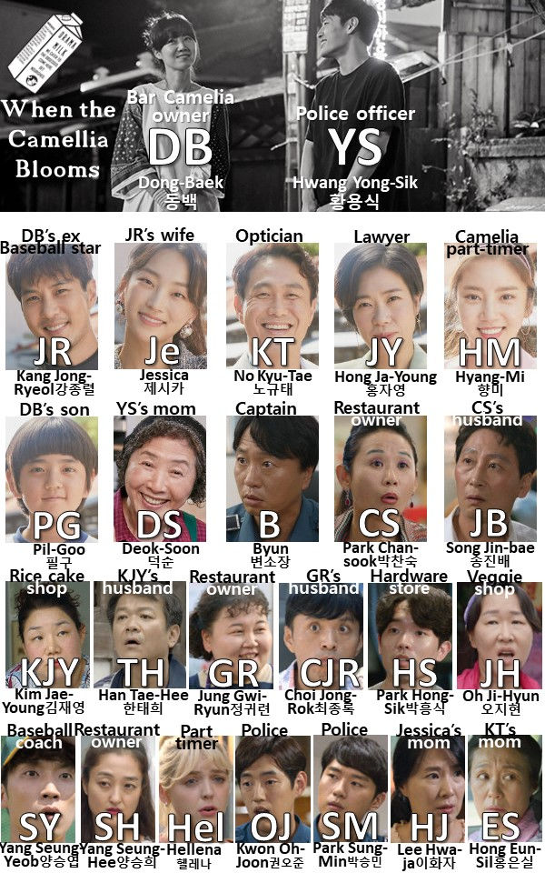 Character chart for Kdrama When the Camellia Blooms on Netflix